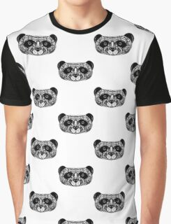 Panda on white background. doodle Graphic T-Shirt