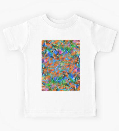 Floral Abstract Stained Glass Kids Tee