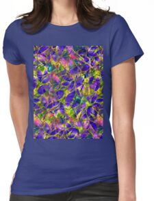 Floral Abstract Stained Glass Womens Fitted T-Shirt