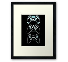 console gaming Framed Print