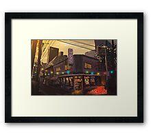 Corner Shop Framed Print
