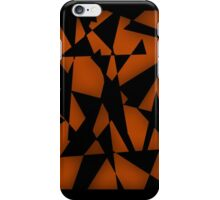 Triangular Fragments (Orange) iPhone Case/Skin