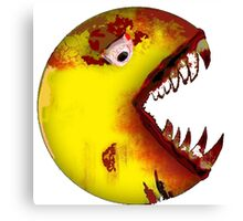 Evil Pac Man  Canvas Print