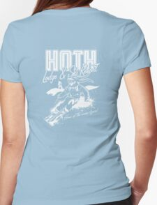 Hoth Lodge and Ski Resort Womens Fitted T-Shirt