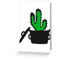 Eat Well saucepan cook restaurant desert cactus survive survival hungry Greeting Card