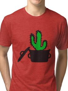 Eat Well saucepan cook restaurant desert cactus survive survival hungry Tri-blend T-Shirt