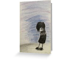 Emo Boy - Broken Heart Greeting Card