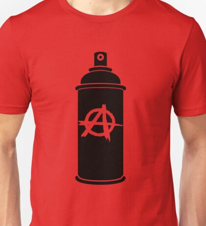 Anarchy symbol spray paint can Unisex T-Shirt