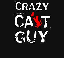 CRAZY CAT GUY Womens Fitted T-Shirt