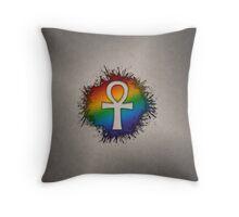 LGBT Egyptian Ankh  Throw Pillow