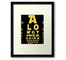 Intro in Snelleen Chart Framed Print
