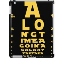 Intro in Snelleen Chart iPad Case/Skin
