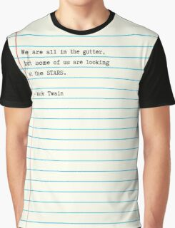 Mark Twain Note Quote Graphic T-Shirt