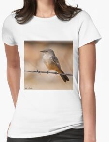 Say's Phoebe on a Barbed Wire Womens Fitted T-Shirt