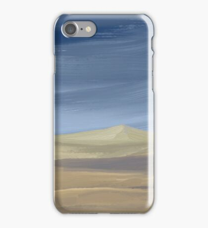 Sweeping desert dune landscape painting  iPhone Case/Skin