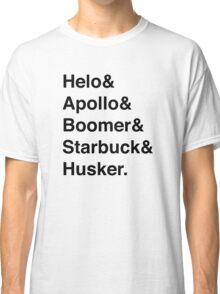Battlestar Galactica BSG Helvetica Ampersand List Classic T-Shirt