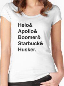 Battlestar Galactica BSG Helvetica Ampersand List Women's Fitted Scoop T-Shirt