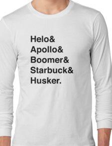 Battlestar Galactica BSG Helvetica Ampersand List Long Sleeve T-Shirt