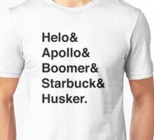 Battlestar Galactica BSG Helvetica Ampersand List Unisex T-Shirt