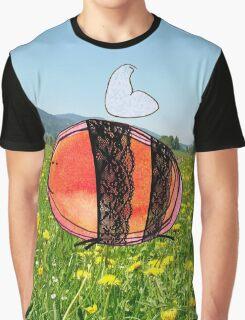 Orange Inky Bumble Bee Graphic T-Shirt