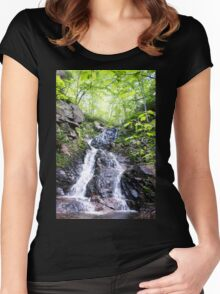 Relaxing Waterfall Women's Fitted Scoop T-Shirt