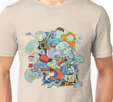 A Jumble of Squidwards Unisex T-Shirt