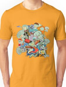 A Jumble of Squidwards Unisex T-Shirt
