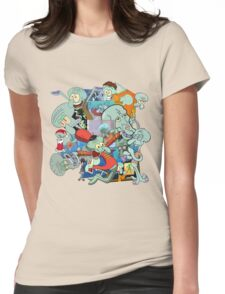 A Jumble of Squidwards Womens Fitted T-Shirt