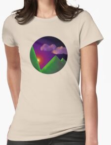 Sunset Circled Womens Fitted T-Shirt