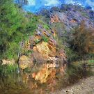 Wallaby Rocks ( Painted)- Sofala/Hill End NSW - The HDR Experience by Philip Johnson