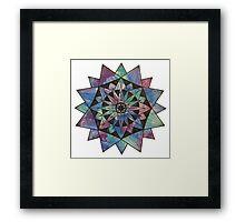 Watercolor Starburst Framed Print