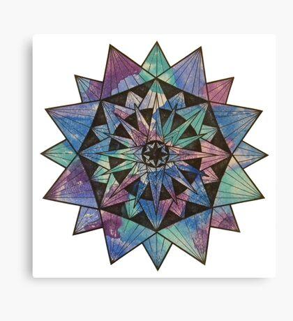 Watercolor Starburst Canvas Print