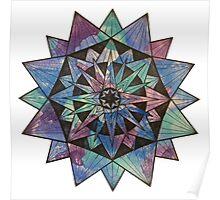 Watercolor Starburst Poster