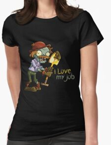 Plants vs Zombies - I Love My Job Womens Fitted T-Shirt