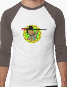 AMOK - retro surfer / surfboard Men's Baseball ¾ T-Shirt