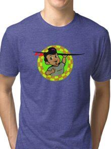 AMOK - retro surfer / surfboard Tri-blend T-Shirt