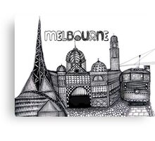 Melbourne in tangles  Canvas Print