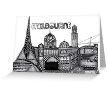 Melbourne in tangles  Greeting Card