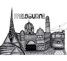 Melbourne in tangles  Photographic Print