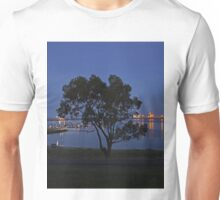 The tree by the port at night Unisex T-Shirt