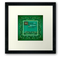 Mein Name is Zoe - German version Framed Print