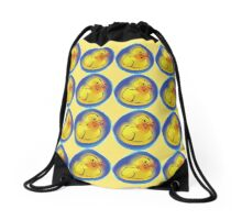 Rubber Duck in a Bubble Drawstring Bag