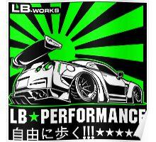 GTR LB Performance Green Poster