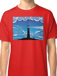 Lighthouse in the Sea 5 Classic T-Shirt