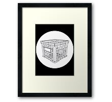 Crate White Circle Framed Print