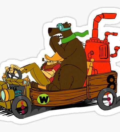 Lazy Luke and Blubber Bear Sticker