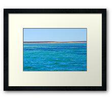 Ningaloo Cliff Framed Print