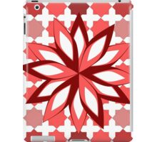Pattern and flower in red iPad Case/Skin