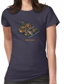 Nightfall @ Low Poly Town Womens Fitted T-Shirt