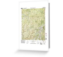 USGS TOPO Map Alabama AL Upshaw 305275 2000 24000 Greeting Card